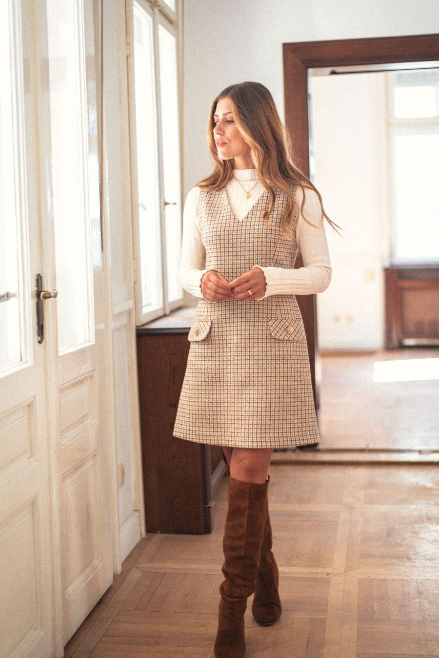 Angela pinafore dress рокля-сукман