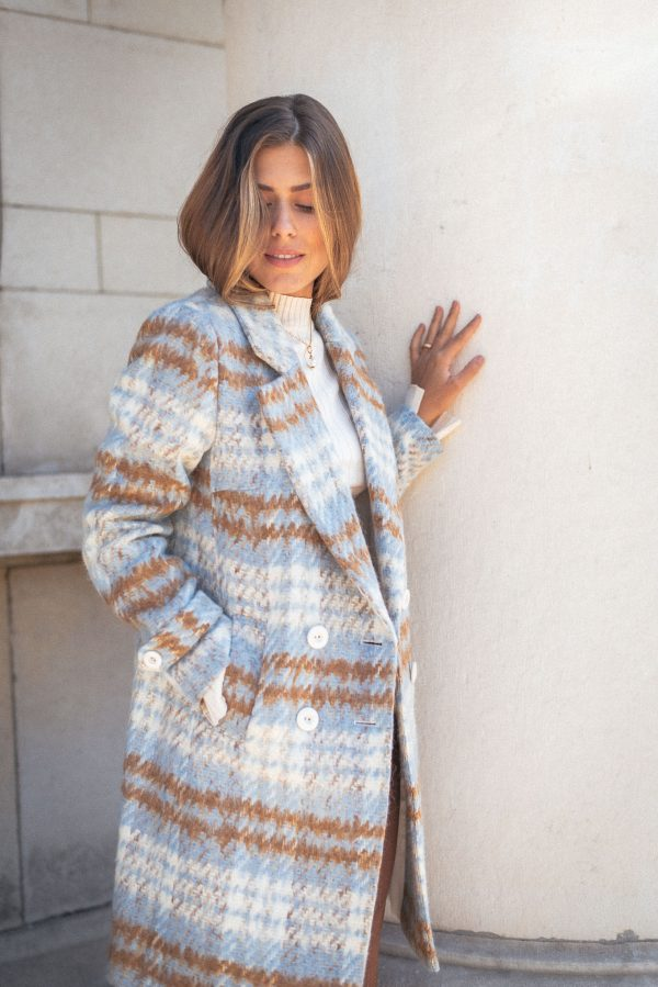 Caramel women blue coat