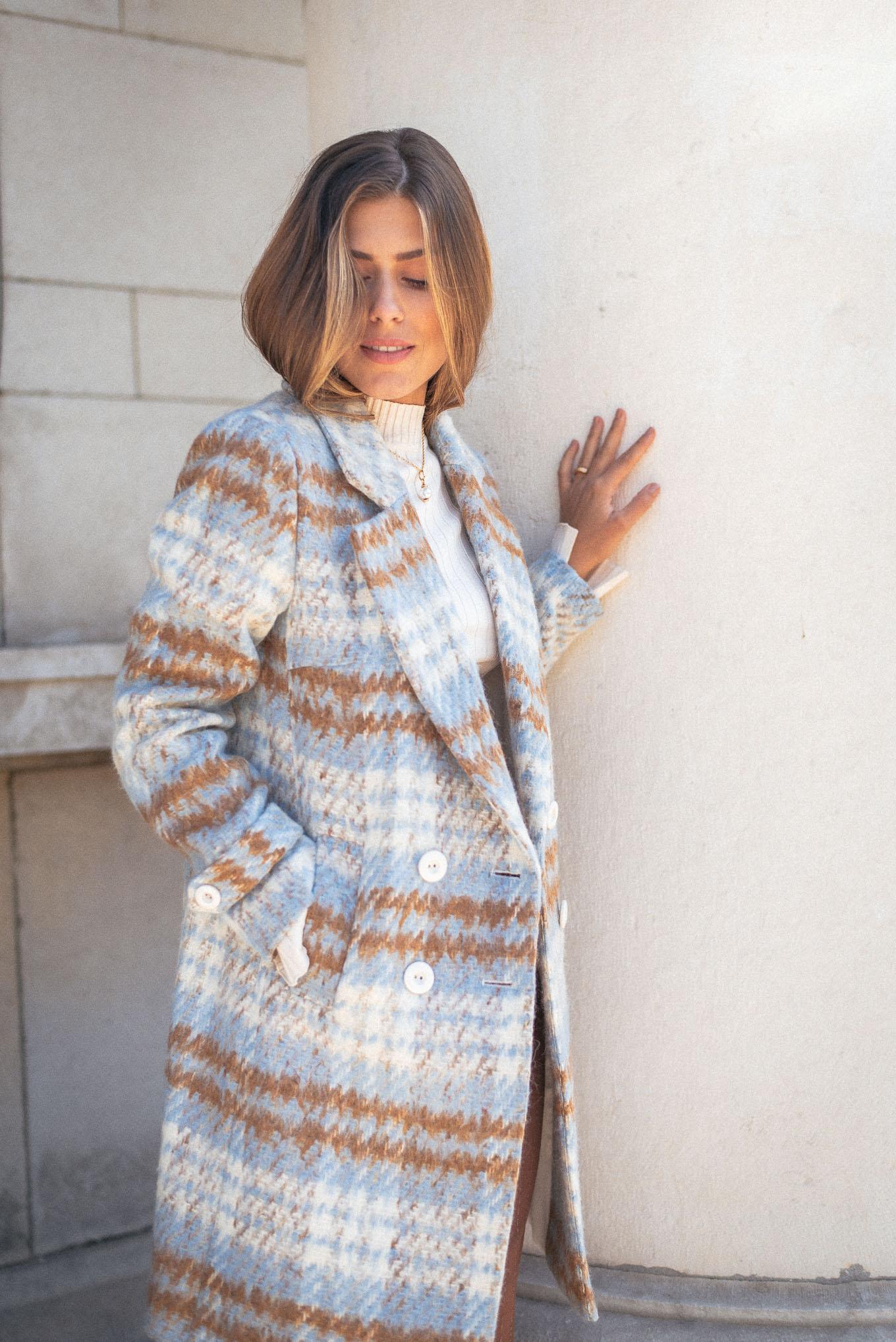 Caramel women blue coat