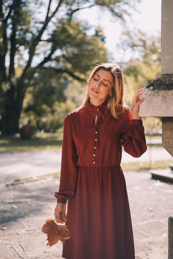 Denina Martin dark amber dress