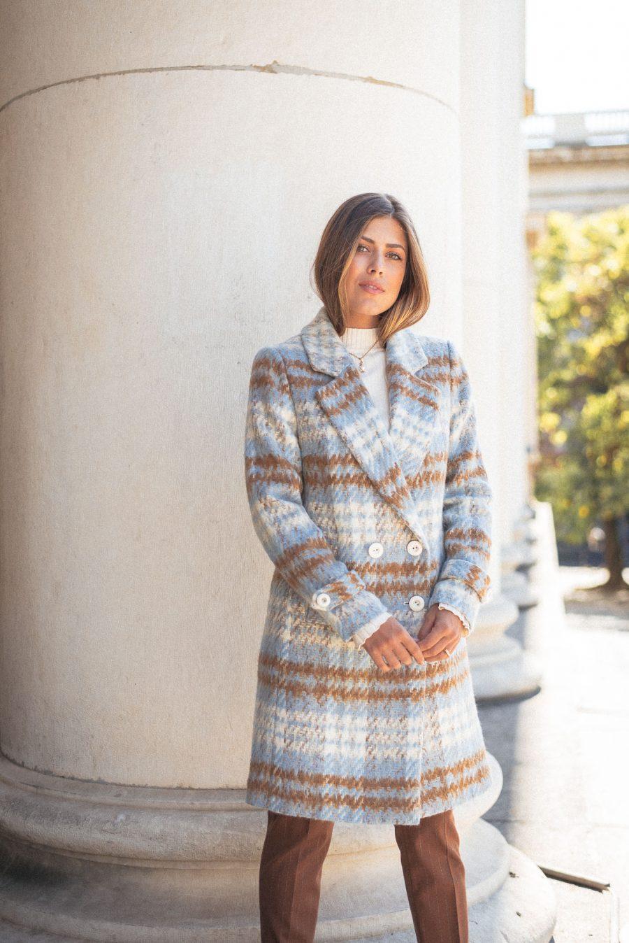 Denina Martin blue caramel coat