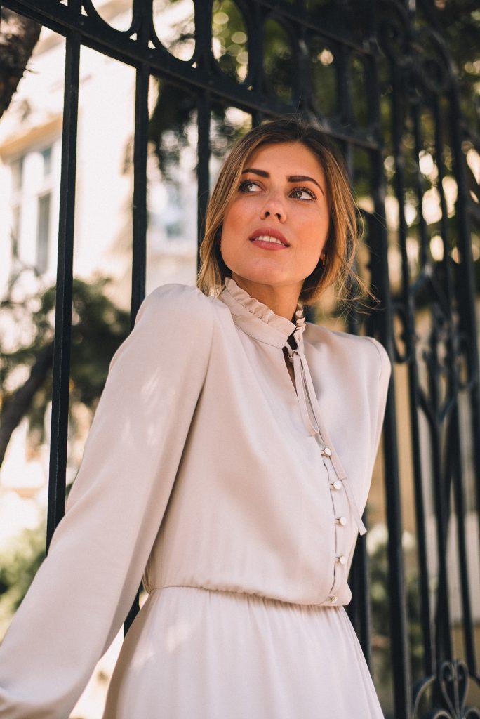Denina Martin white off dress