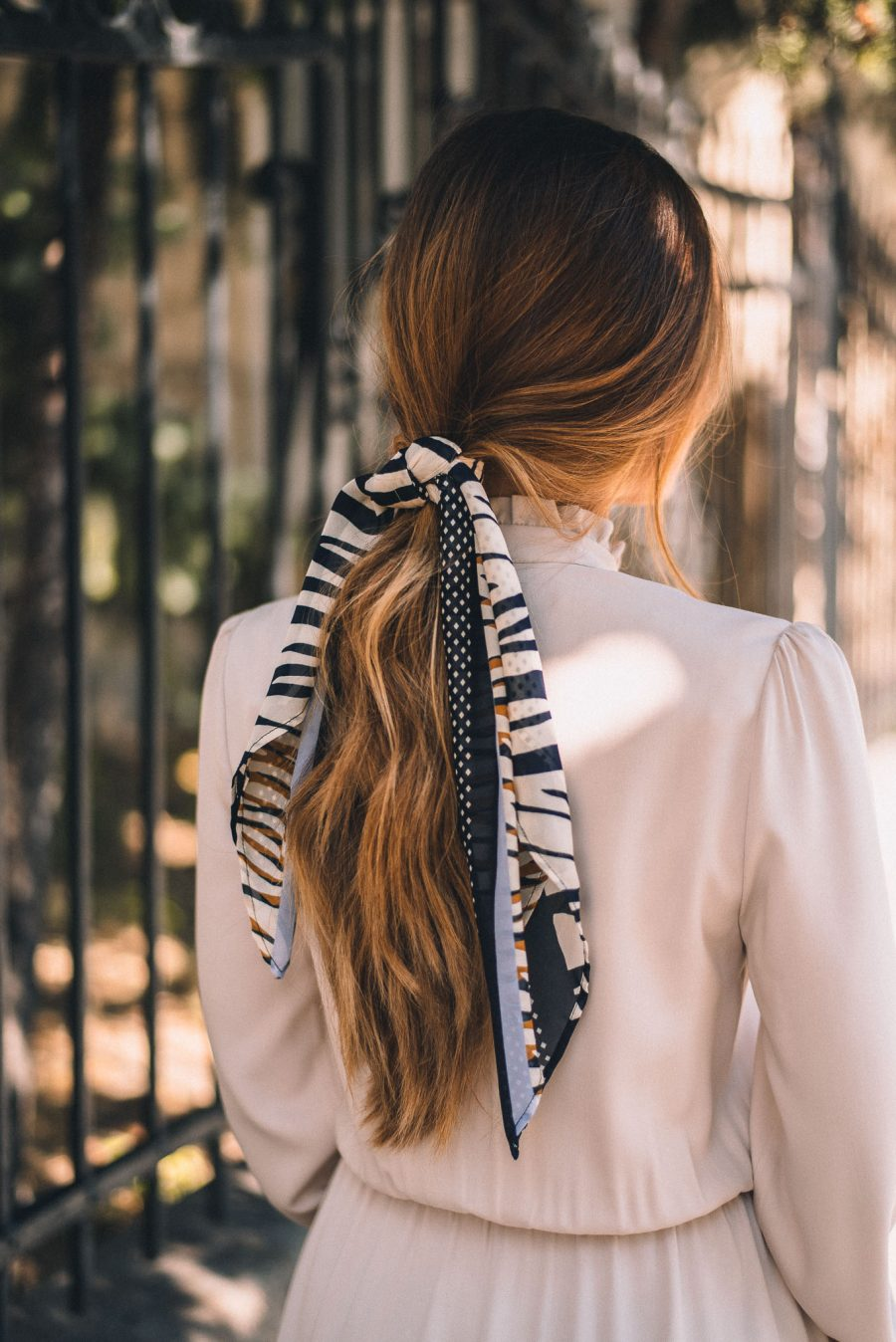 Hair style with a scarf