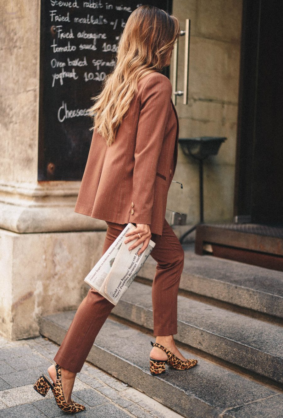 brown trousers from Denina Martin Collection