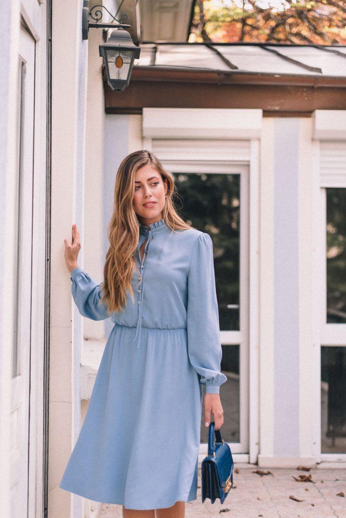 Denina Martin Collection blue dress