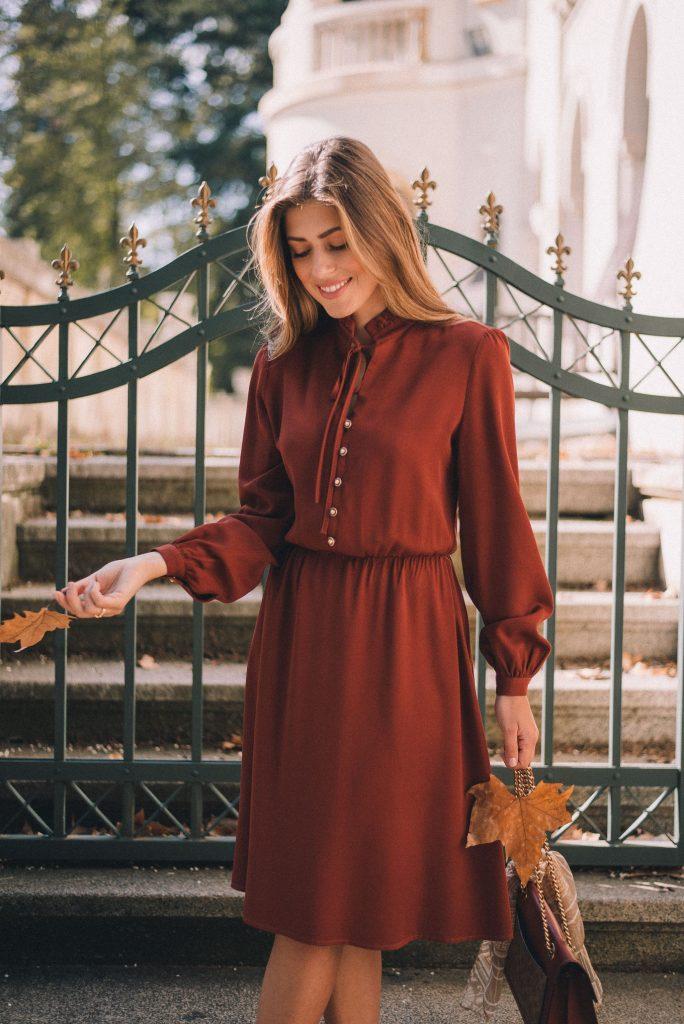 Dark amber dress for this autumn
