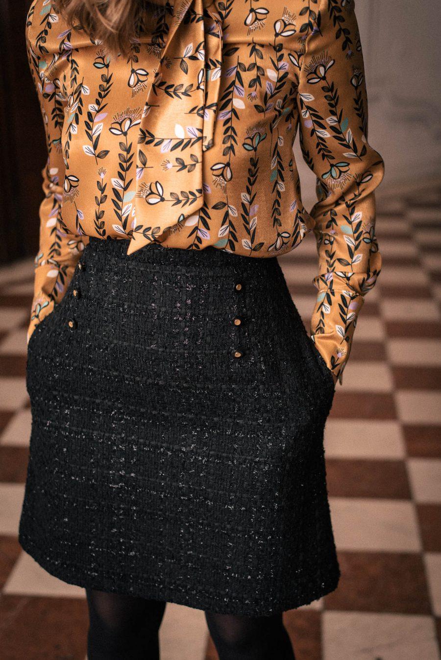 малка черна рокля от колекцията Денина Мартин