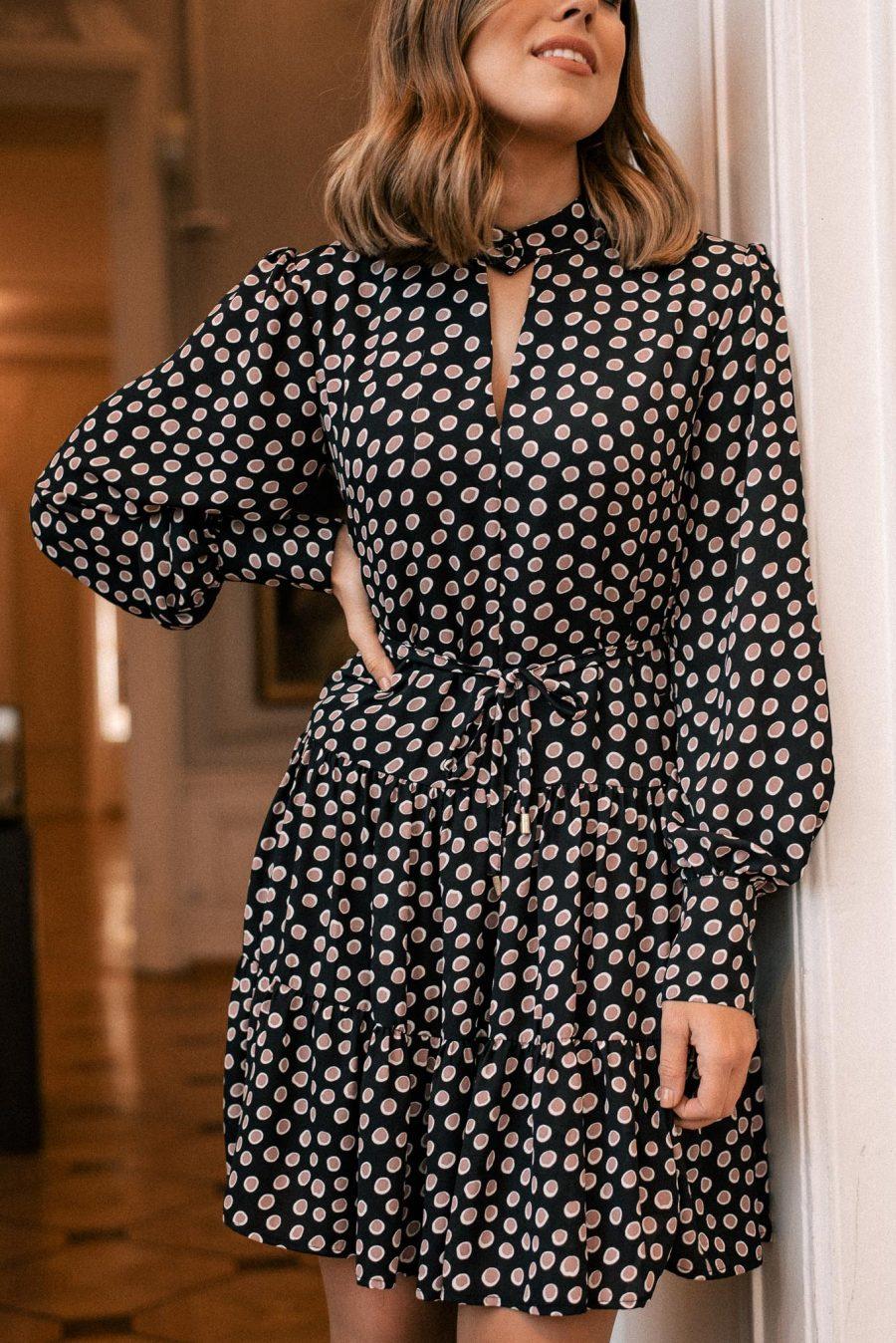 Alice polka dots dress in black