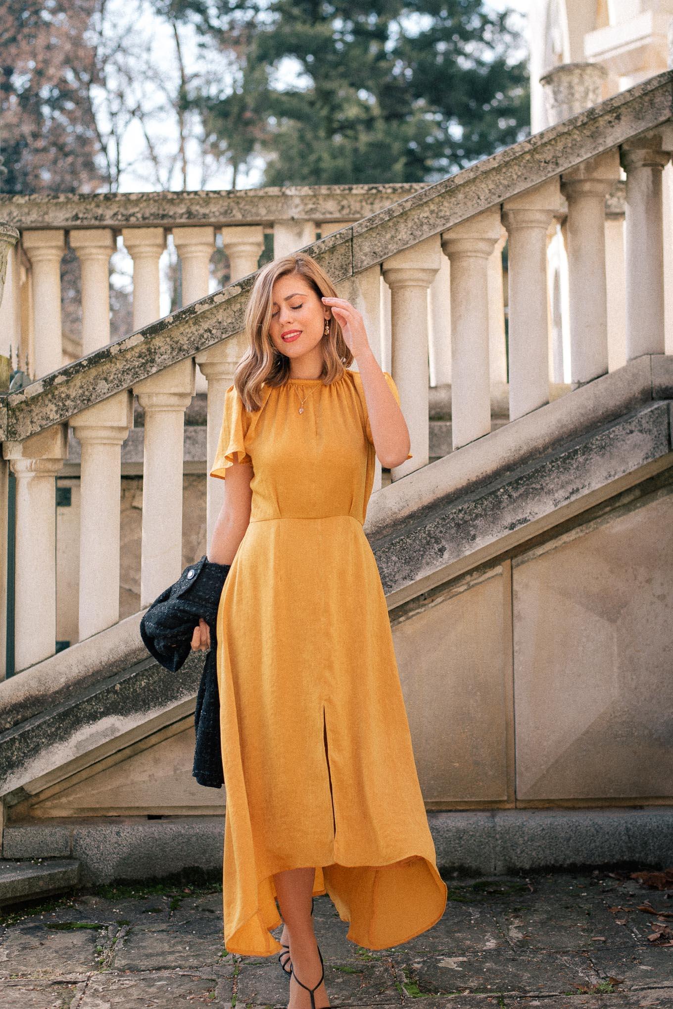 yellow fiery dress