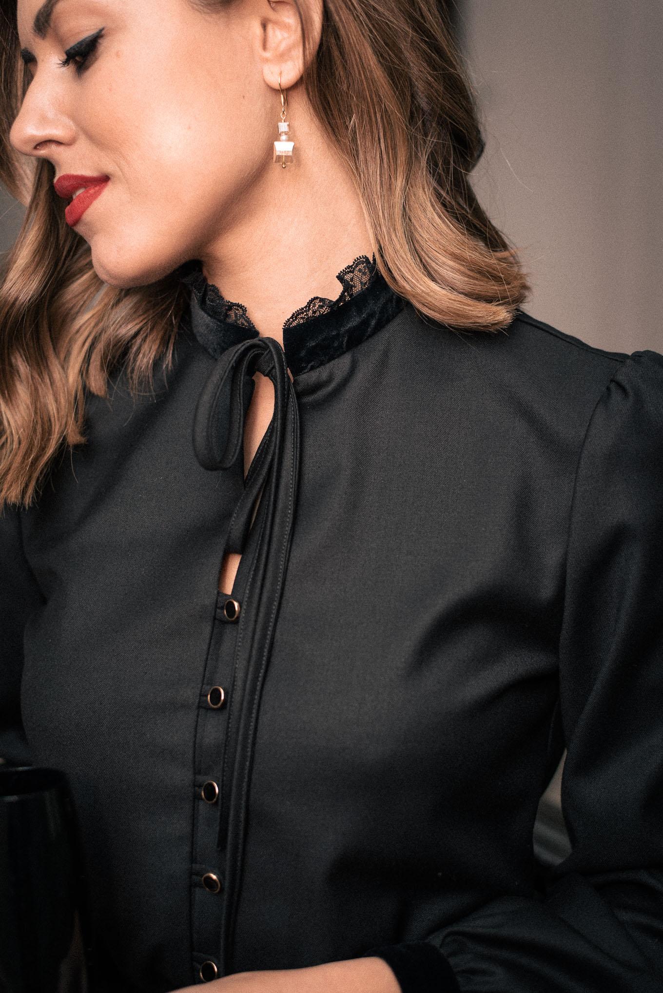 Black lace details Denina Martin