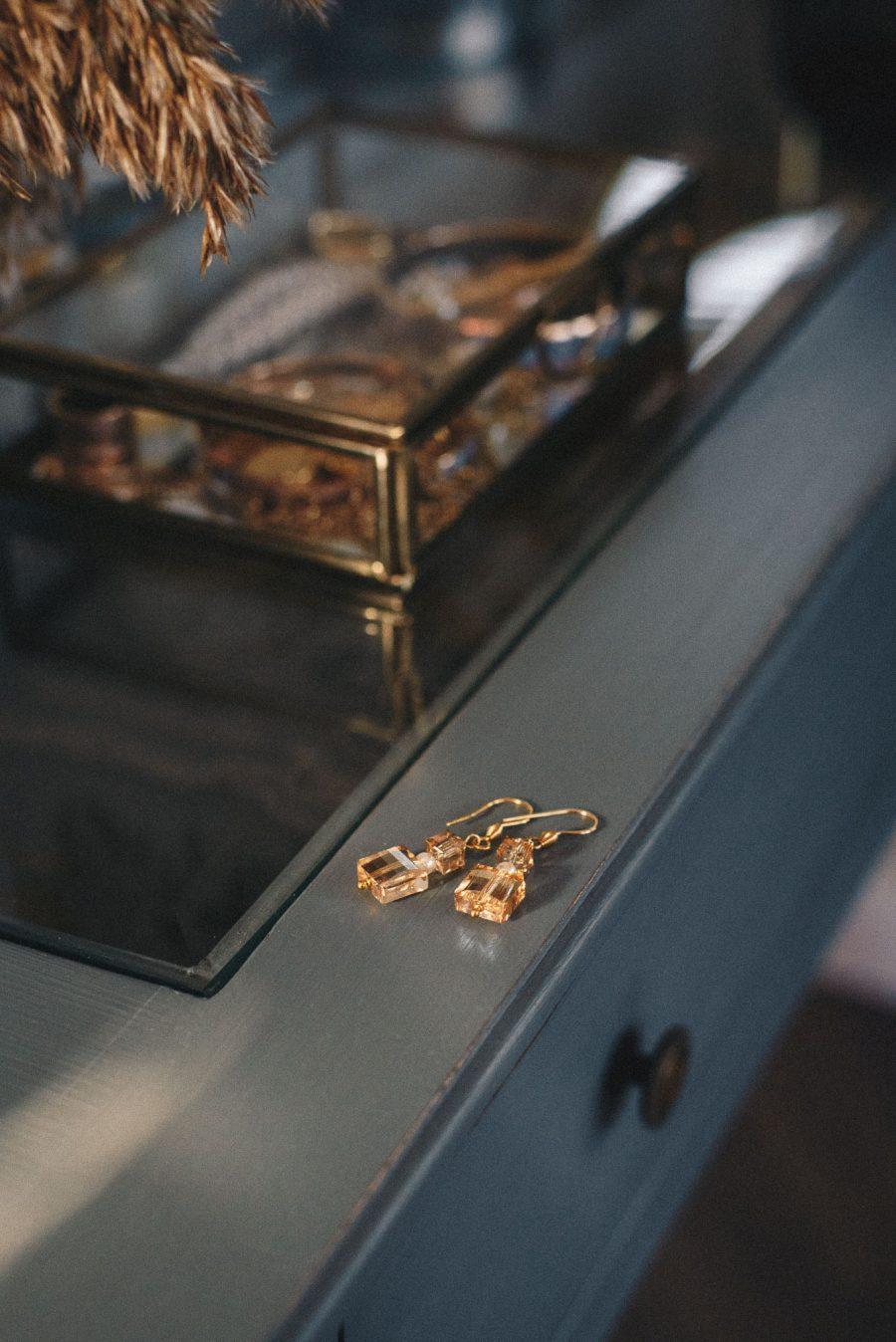 Denina Martin Collection-handmade earings with Swarovski