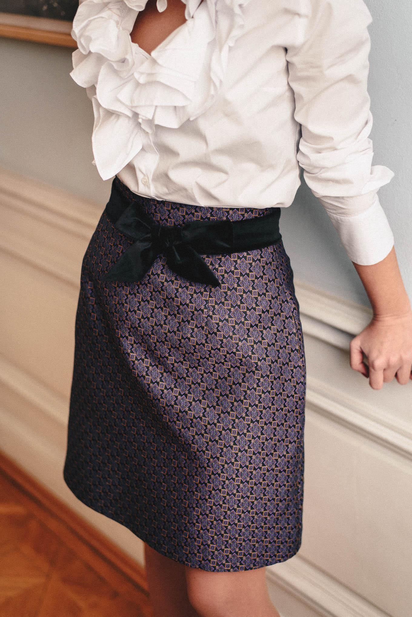 jacquard skirt from Denina Martin Collection