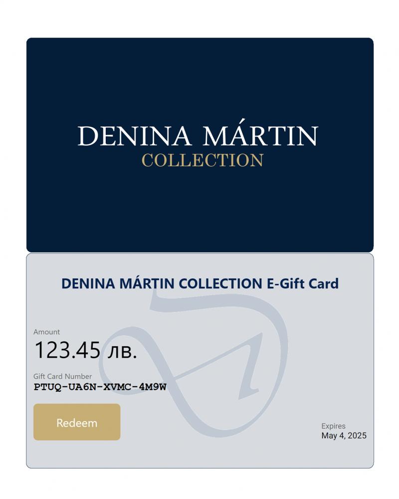 gift card Denina Martin Collection