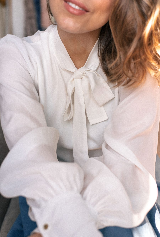 Beautiful soft silk cotton blouse