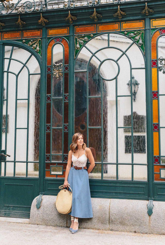 Denina Martin Collection denim skirt