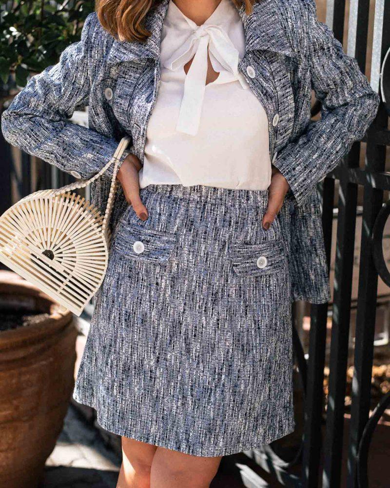 Denina Martin blue skirt