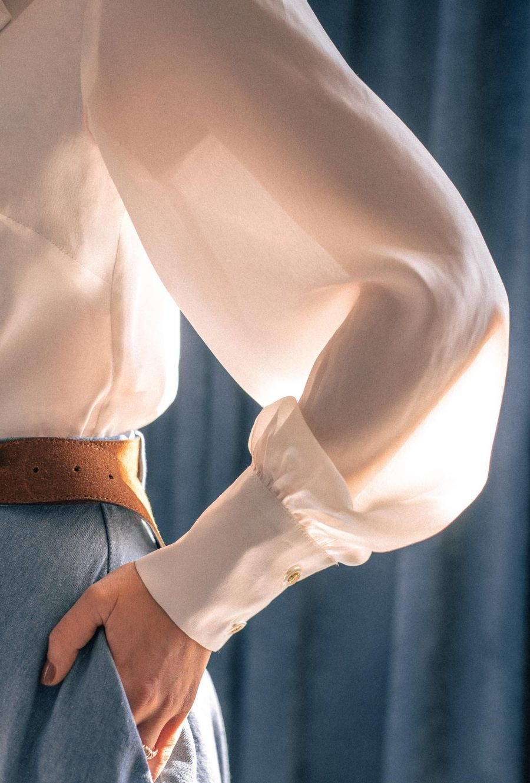 Silk cotton blouse from DMC