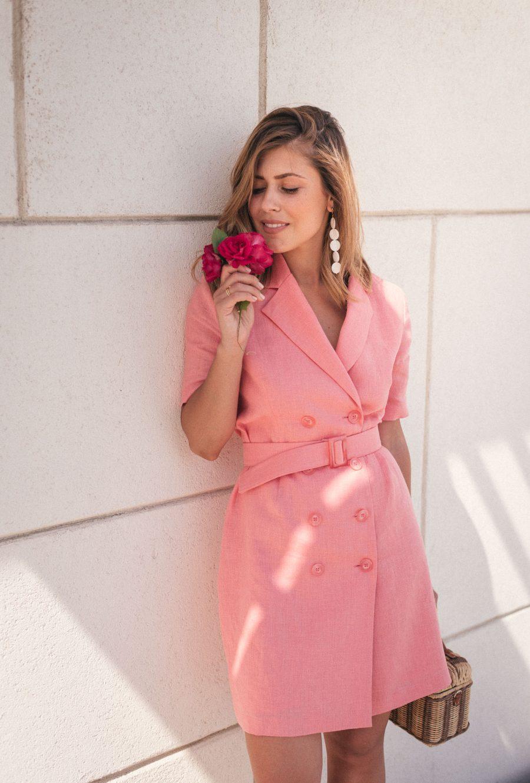 Рокля в розов лен от колекция лято