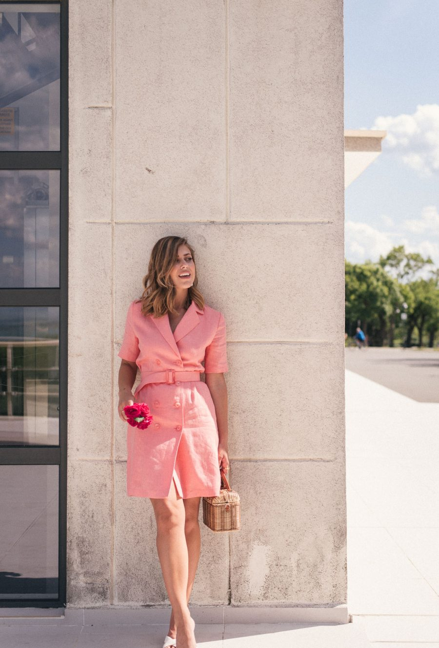 Rose linen dress from Denina Martin
