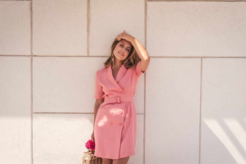 Rose linen dress summer collection