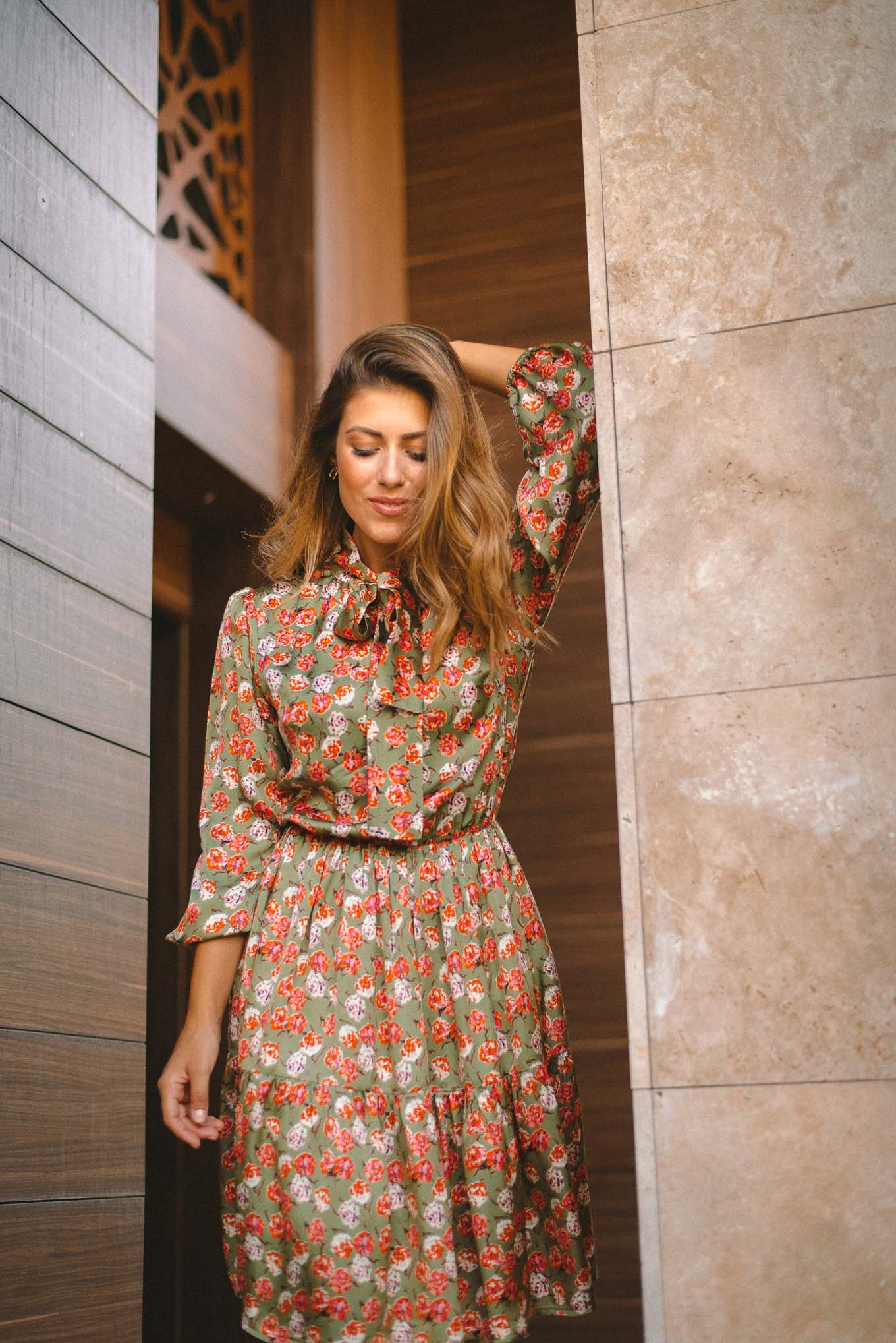 Marie dress in floral print