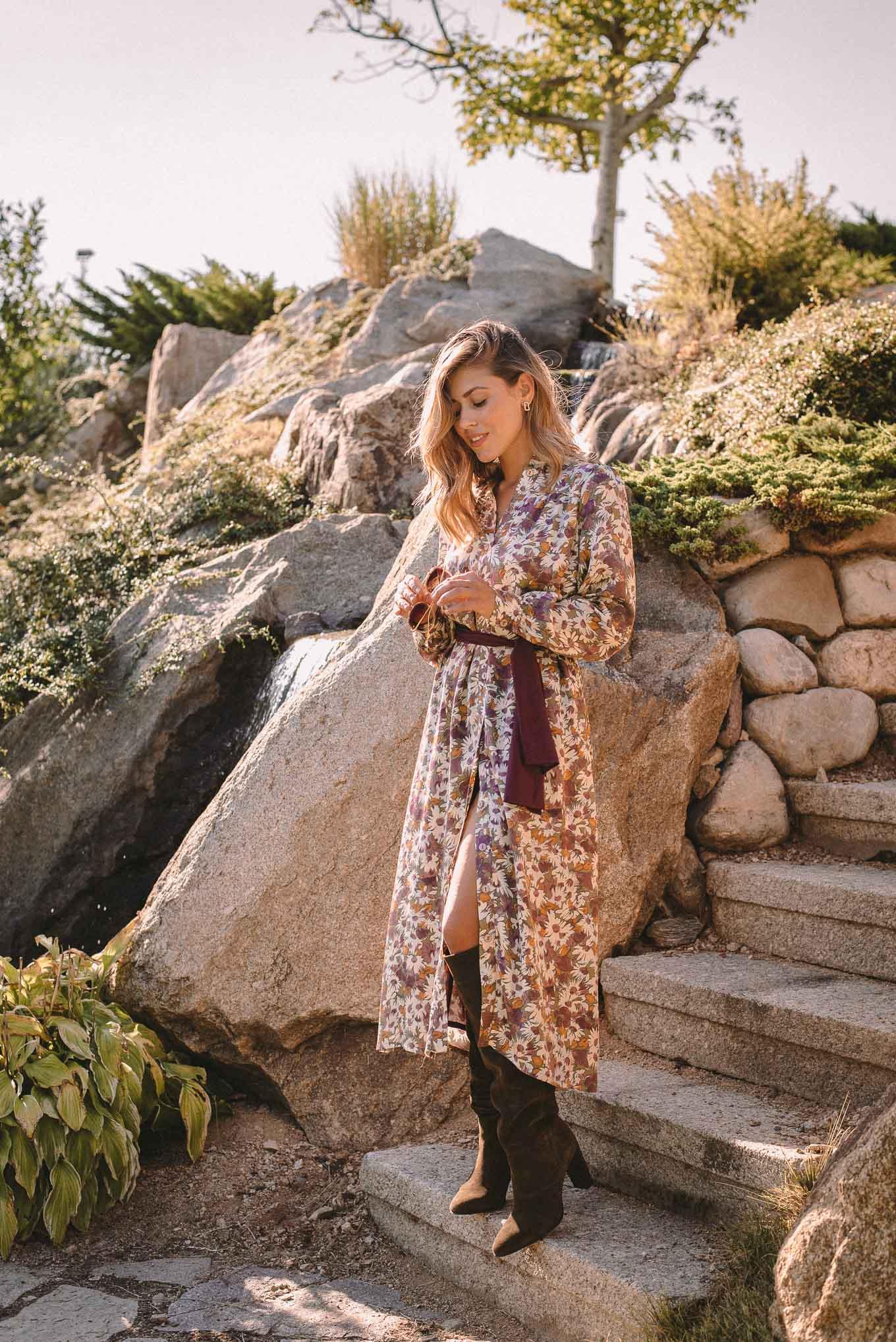 Denina Martin Collection-autumn printed dress_5395