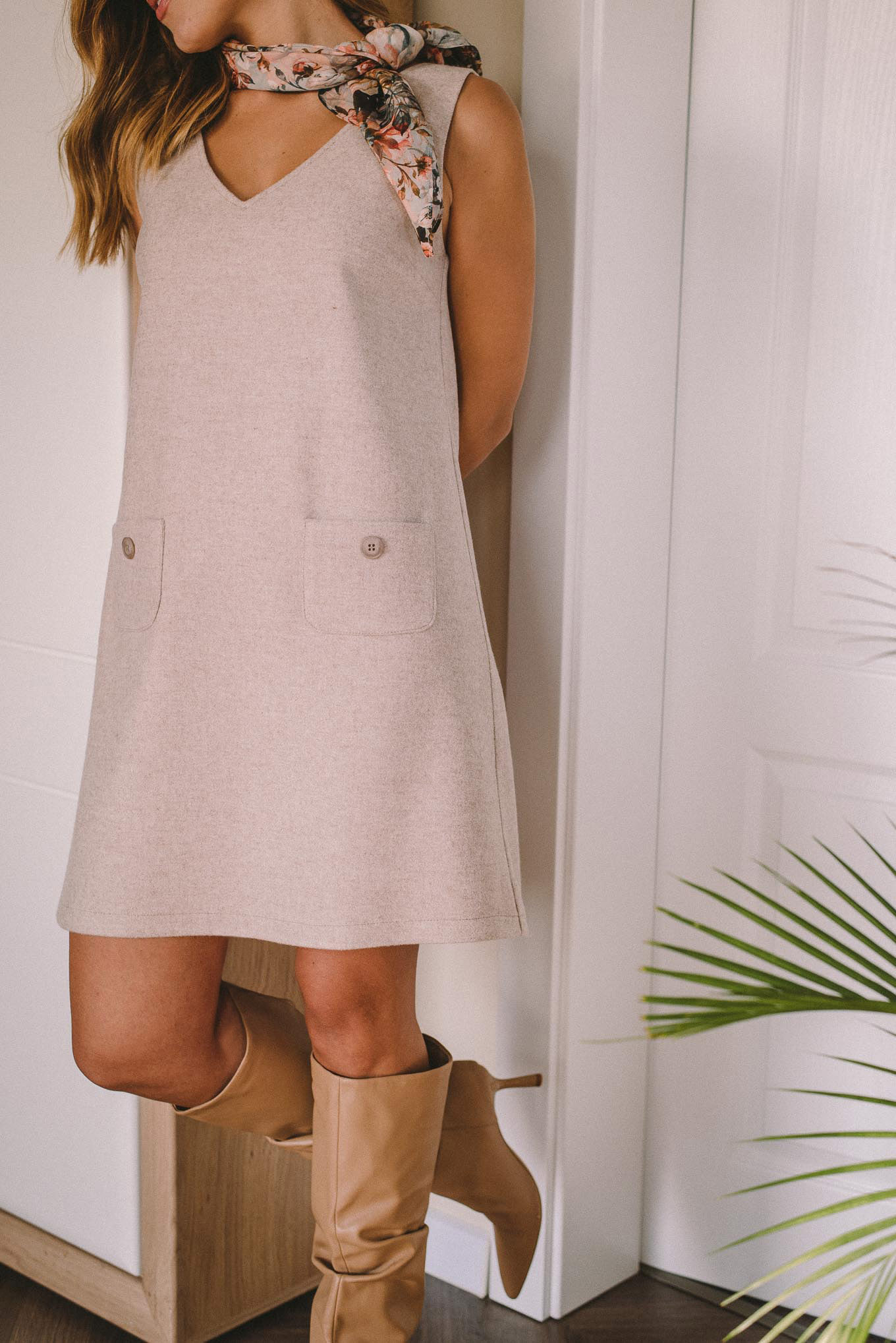 Virgin wool dress