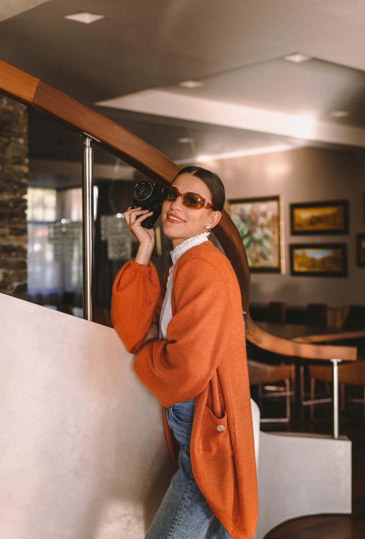 cardigan garment AW2020 by Denina Martin Collection