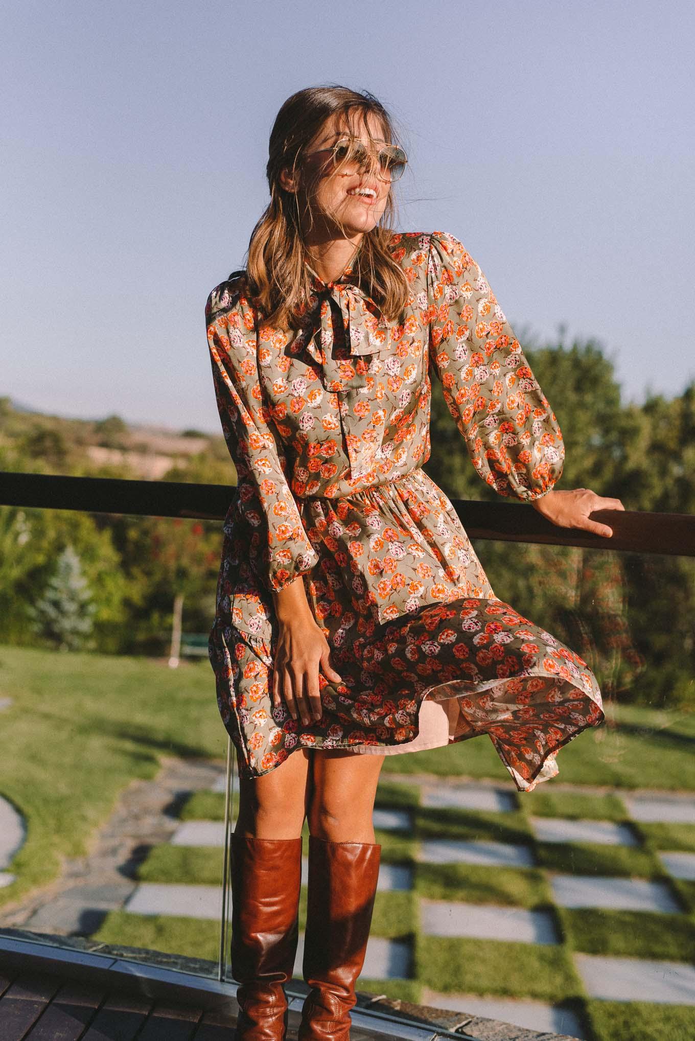 floral autumn dress aw2020