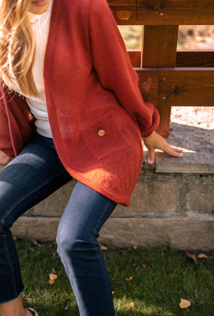 Beautiful rusty red cardigan-by Denina_martin Collection