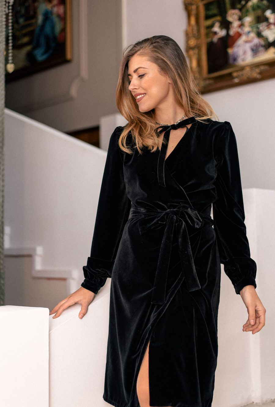 Denina Martin velvet soft feel dress