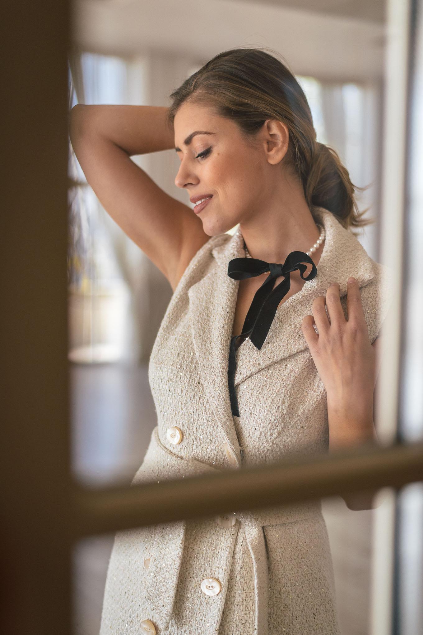 Ribbon Necklace SWAROVSKI pearls