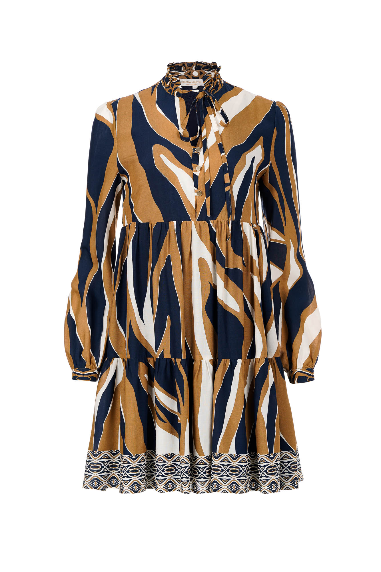 Mike printed dress by Denina Martin Collection