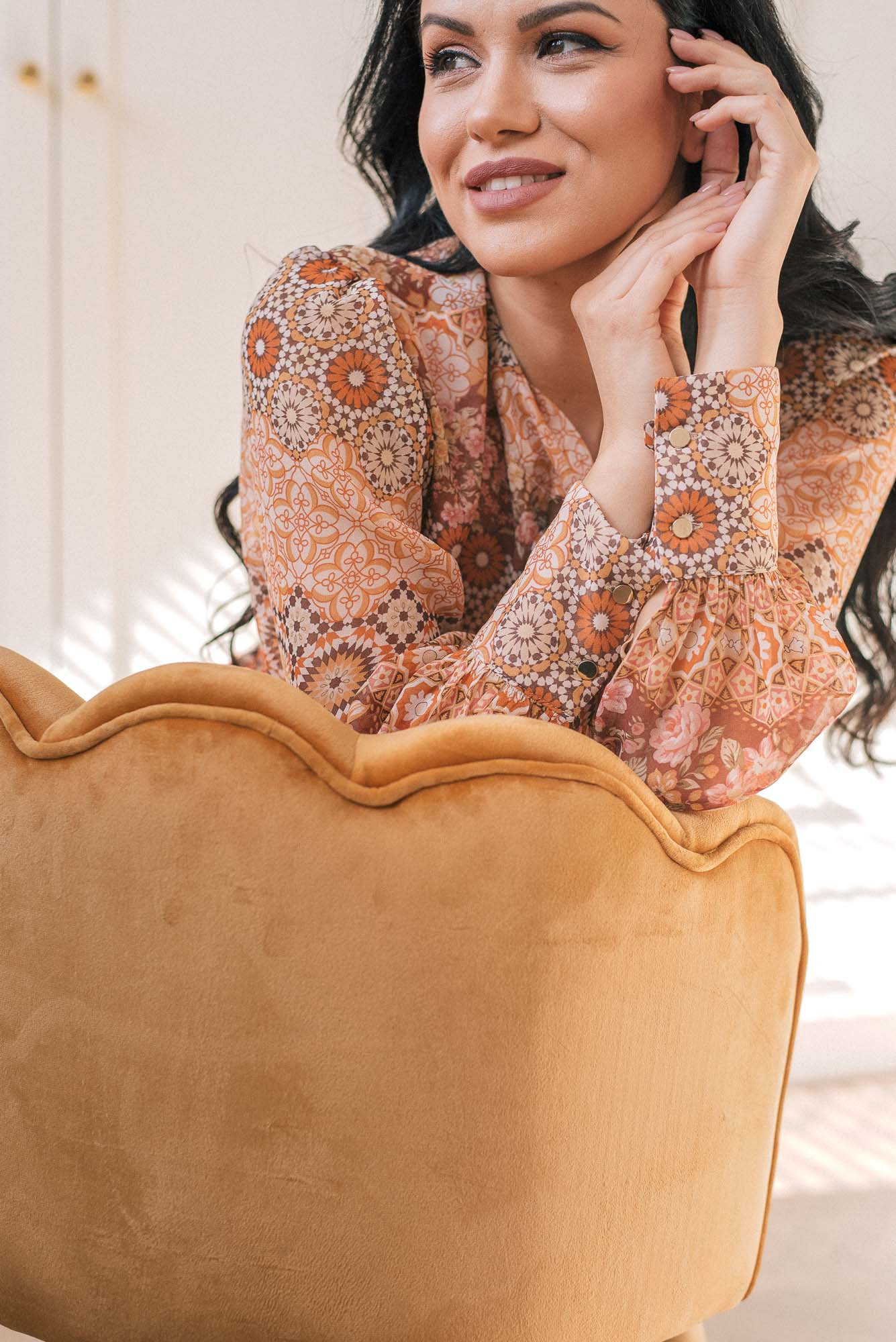 Denina Martin Collection 100 silk shirt