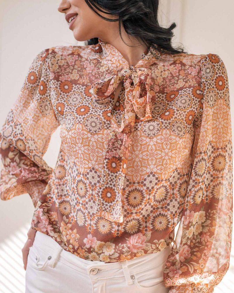 Denina Martin Collection Silk blouse