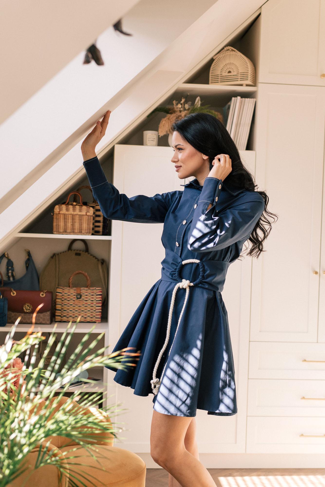 Denina Martin Collection poplin dress