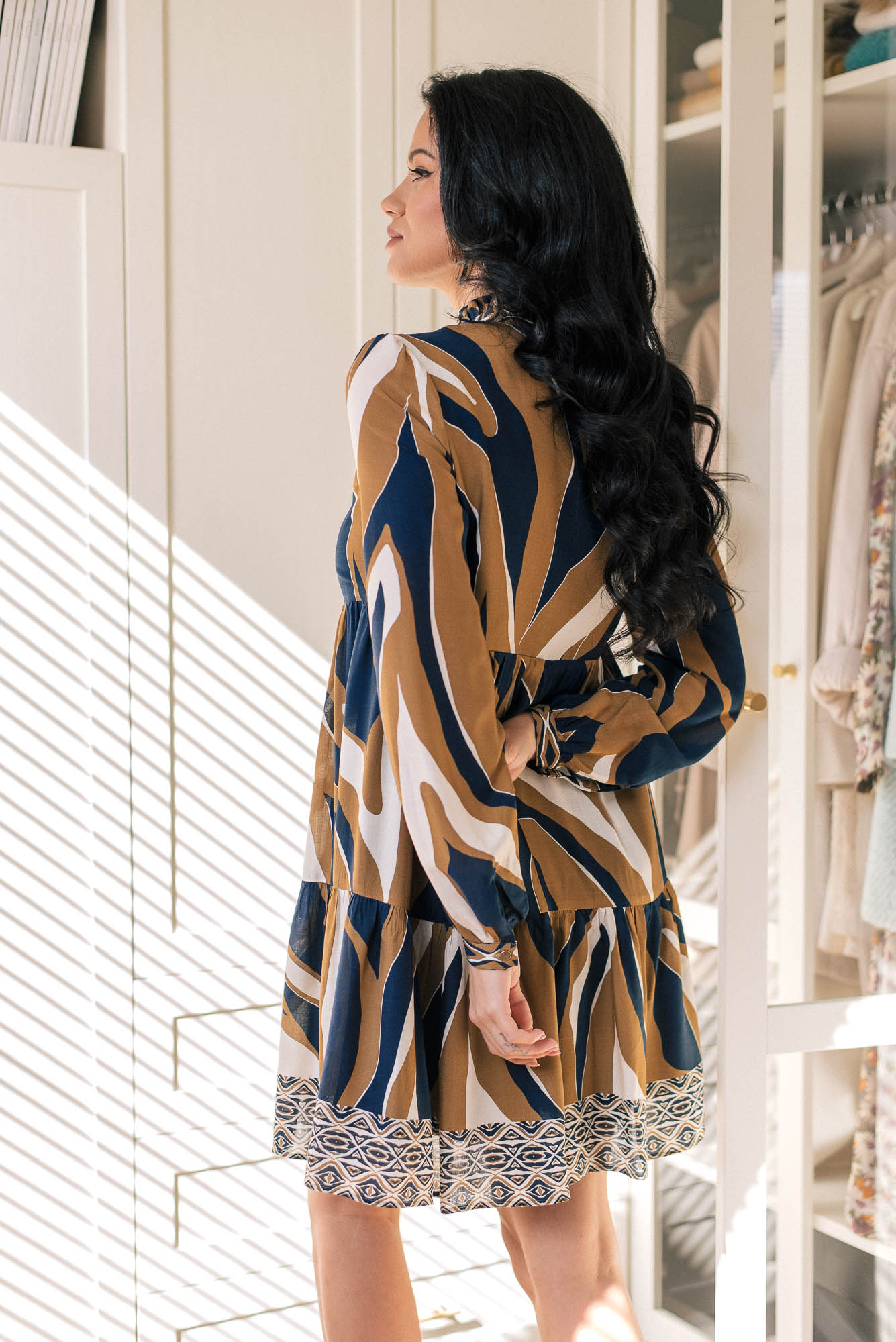 Viscose printed dress by Denina Martin Collection