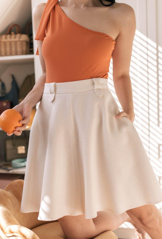 Deninamartincollection off white skirt