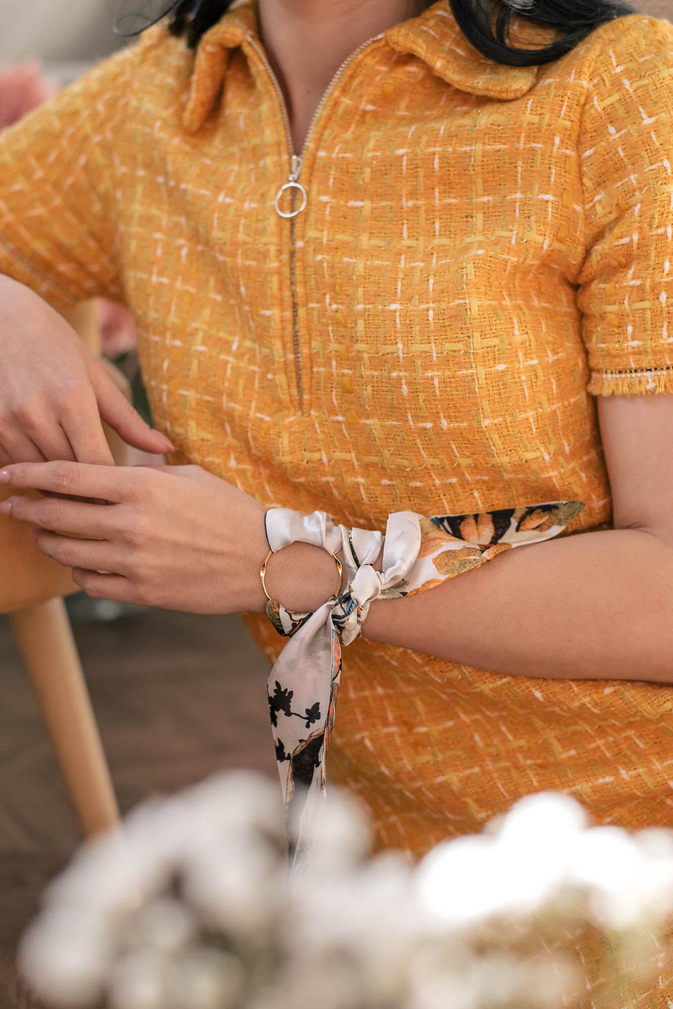Silk bow accessory