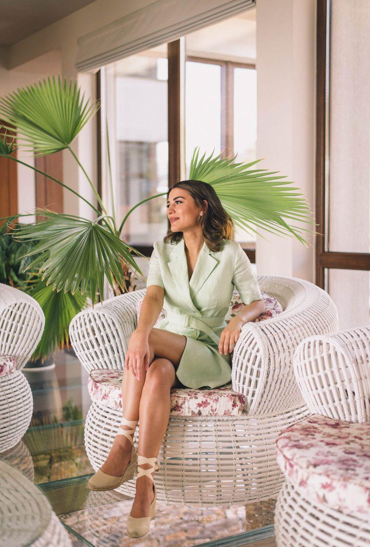 Denina Martin linen dress summer collection