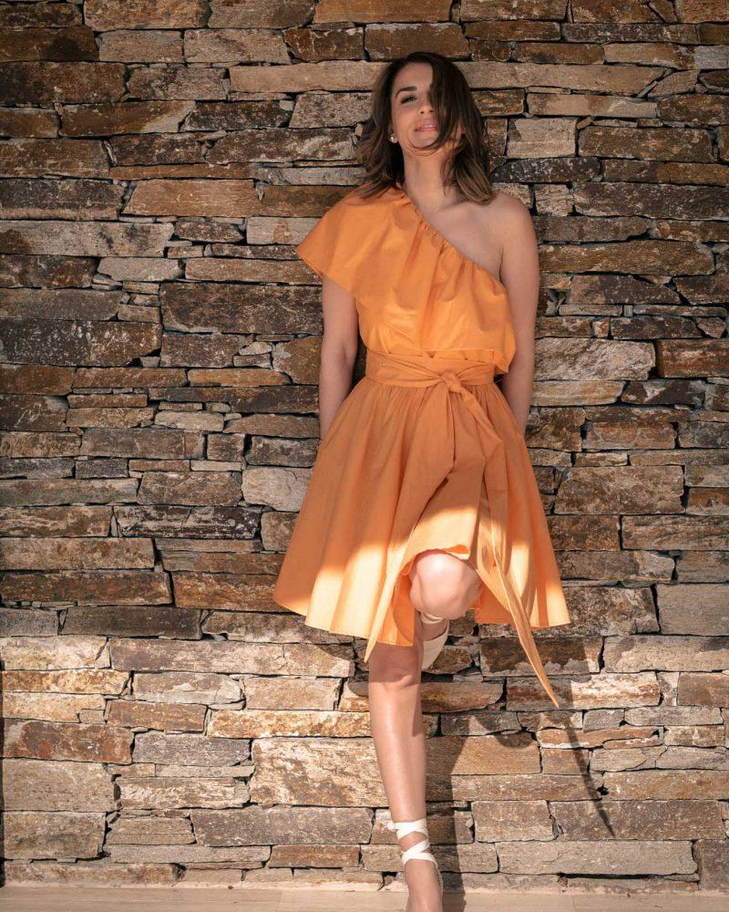 Lorie one shoulder dress