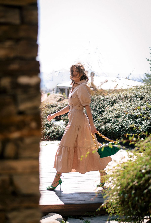 Safari type summer dress by Denina Martin Collection