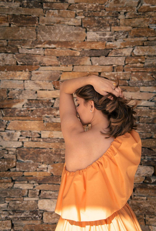 Hot summer one shoulder dress