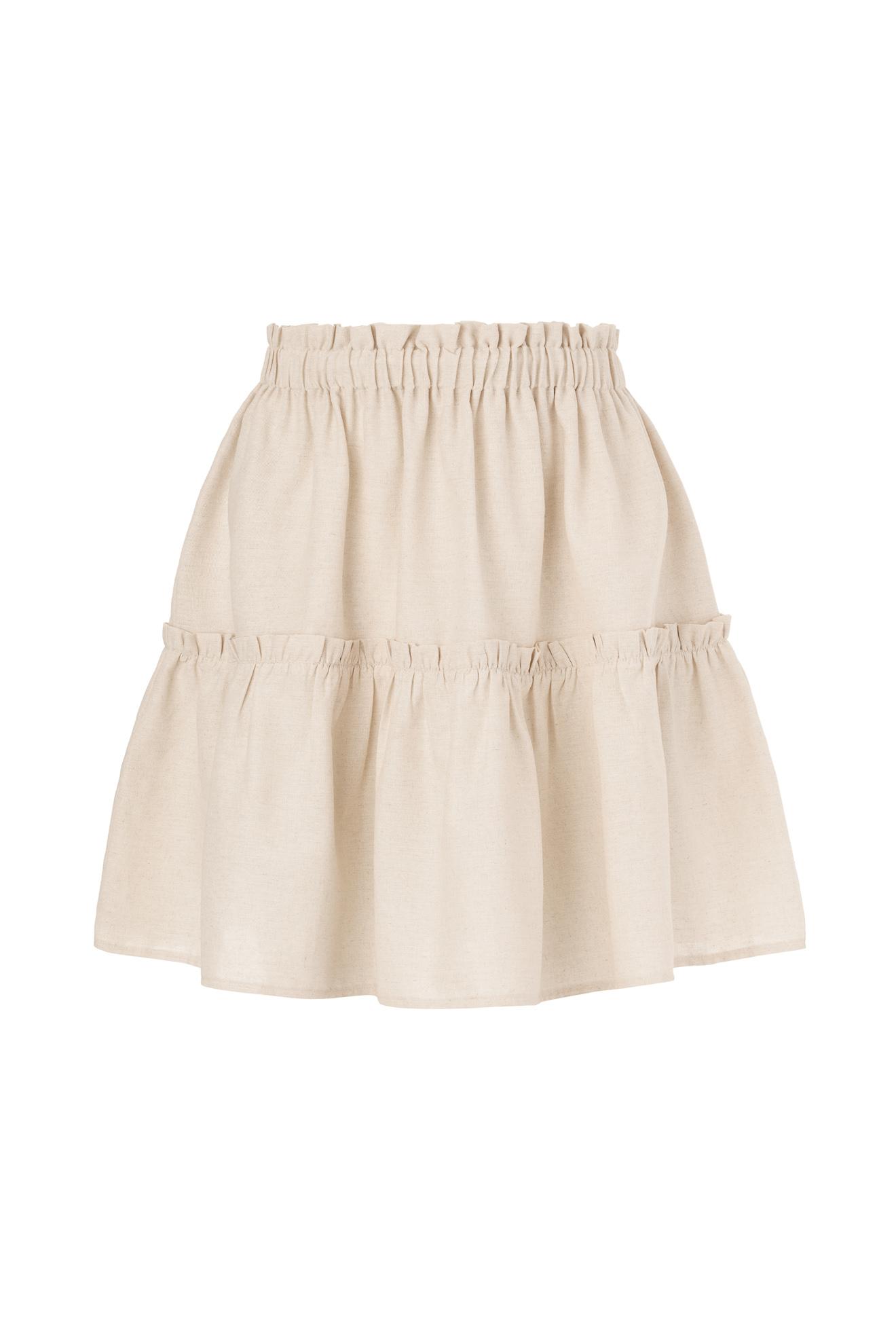 Denina Martin linen blend skirt