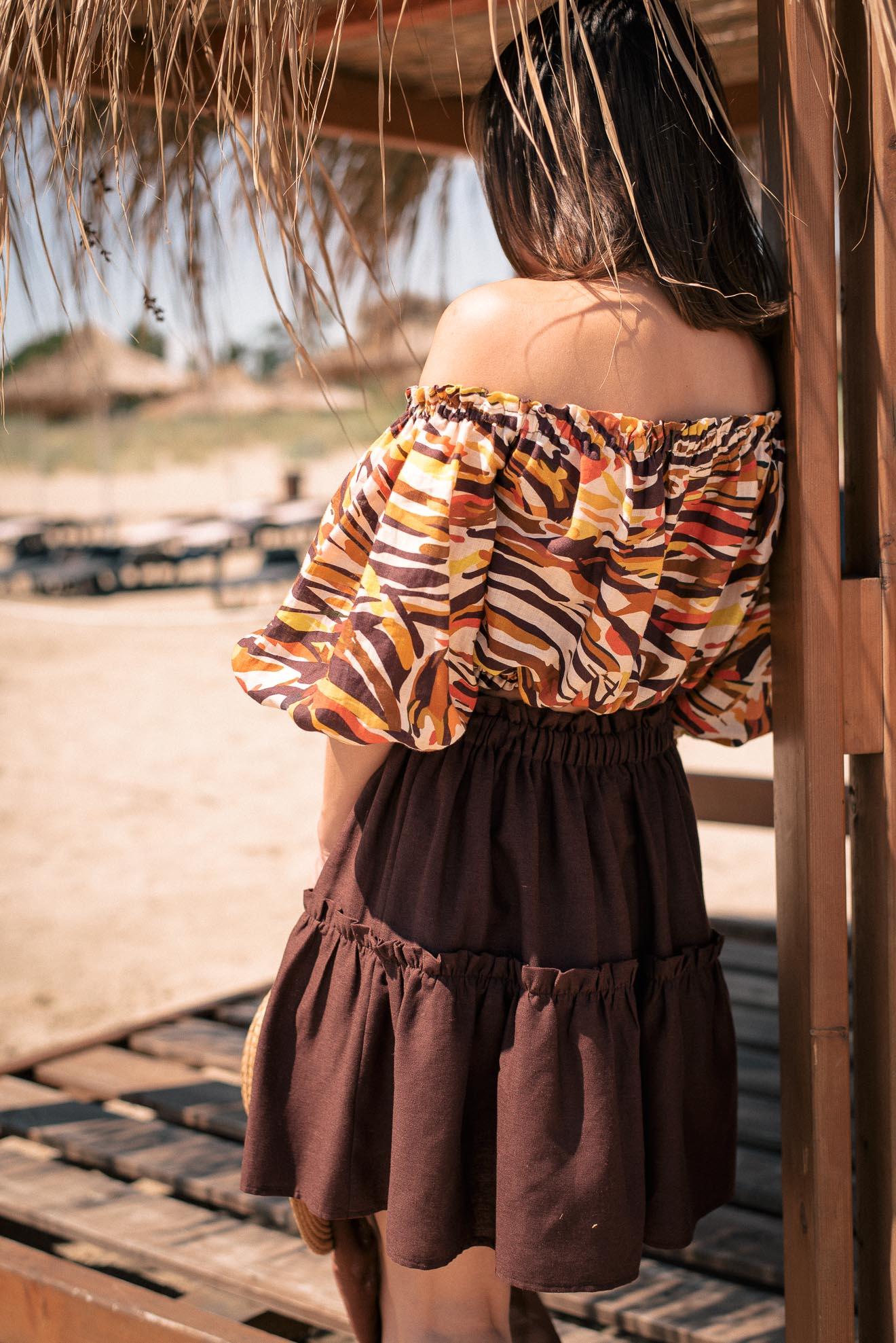 Linen blend skirt for hot summer days