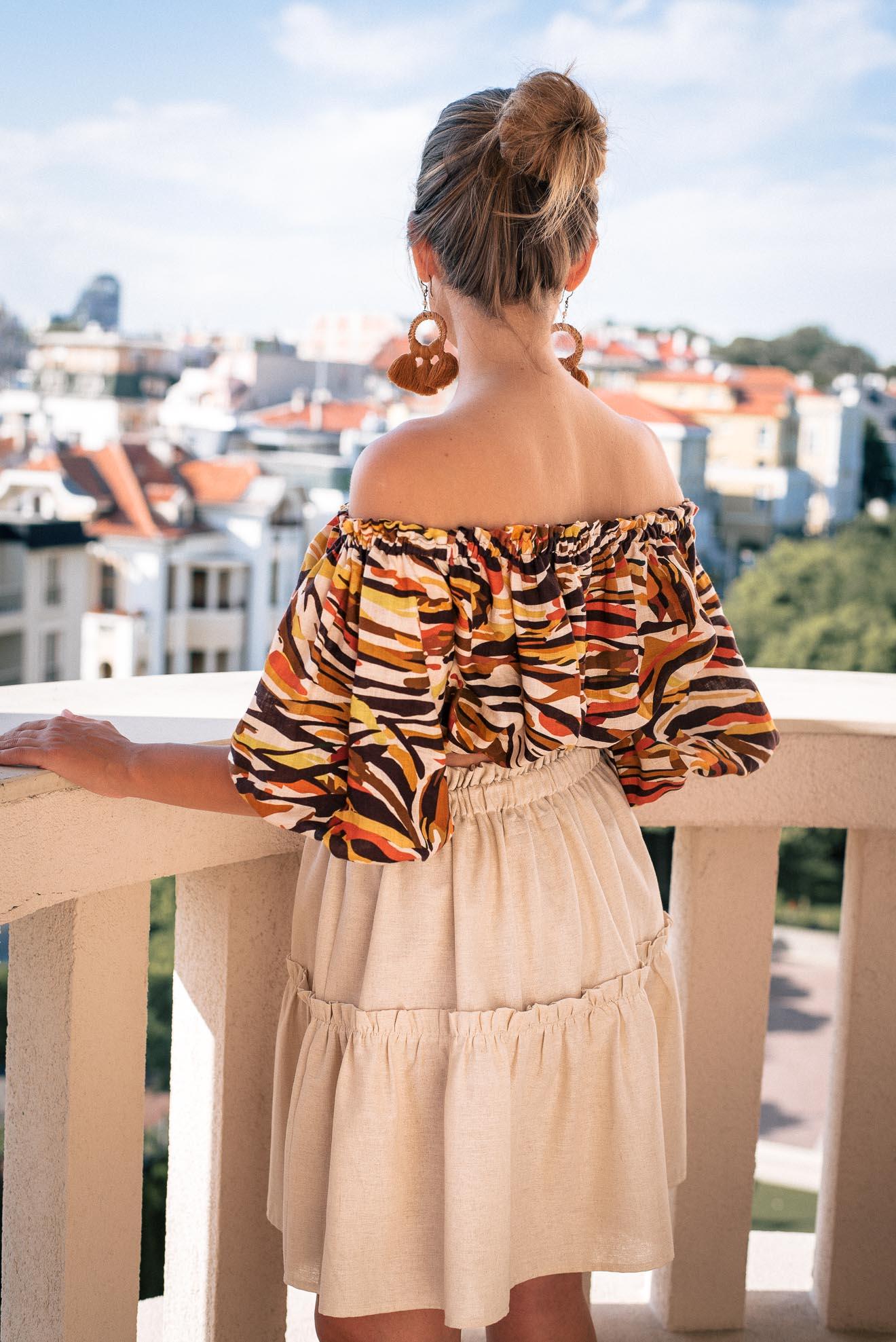 Denina Martin Collection linen blend skirt