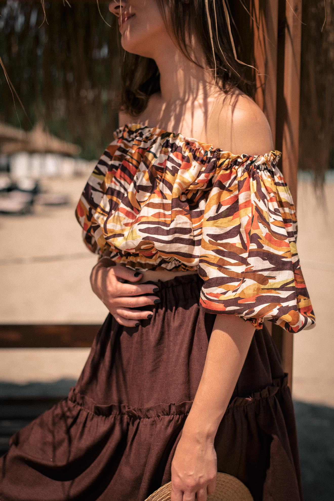 Tory linen top by Denina Martin Collection summer edition