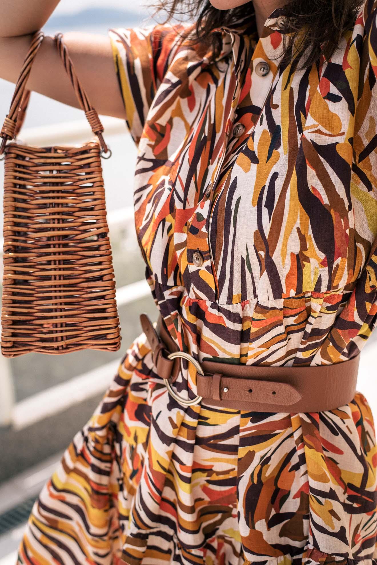 hot wave linen dress by Denina Martin