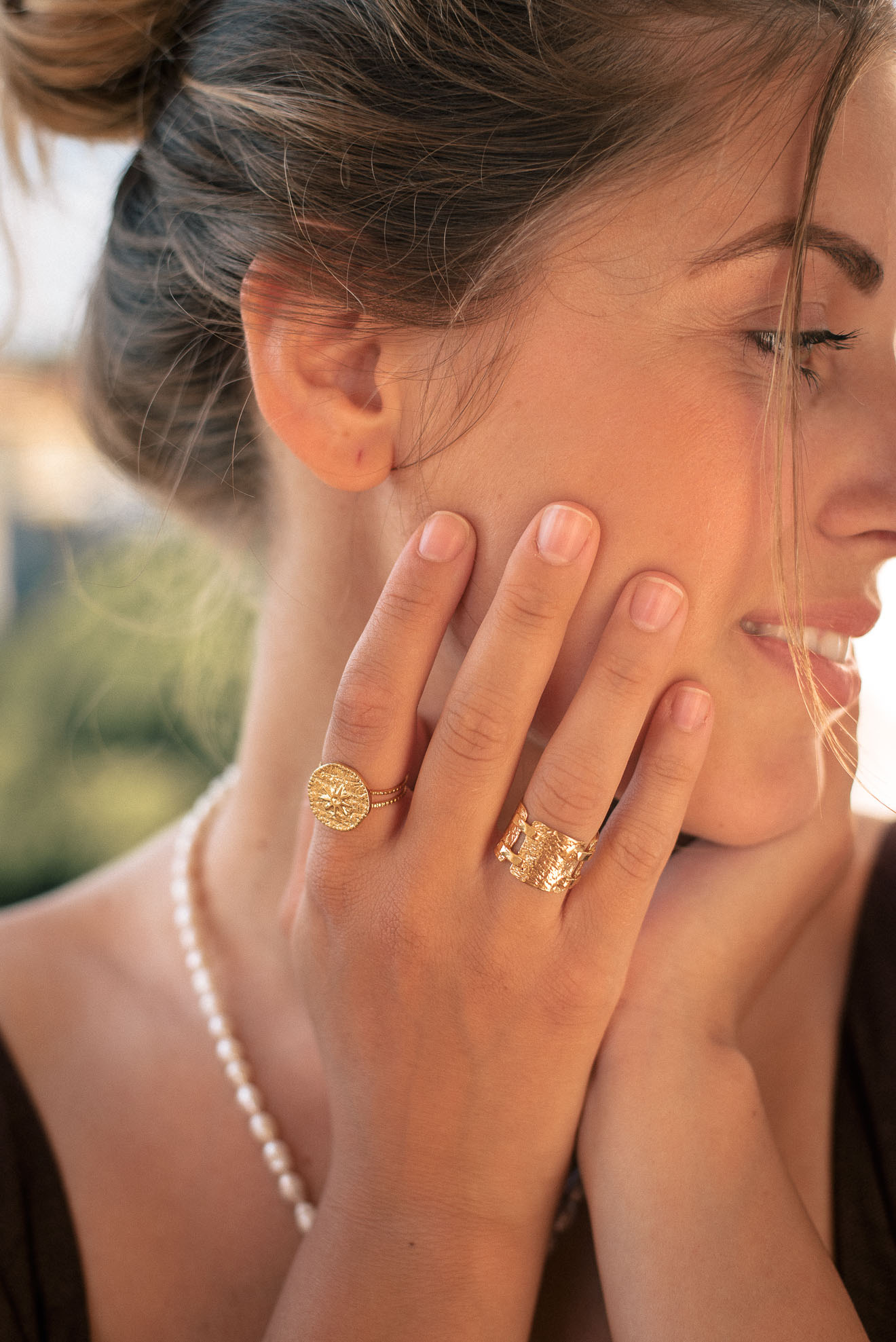 Denina Martin Collection Set-of 24K Gold Plated Rings