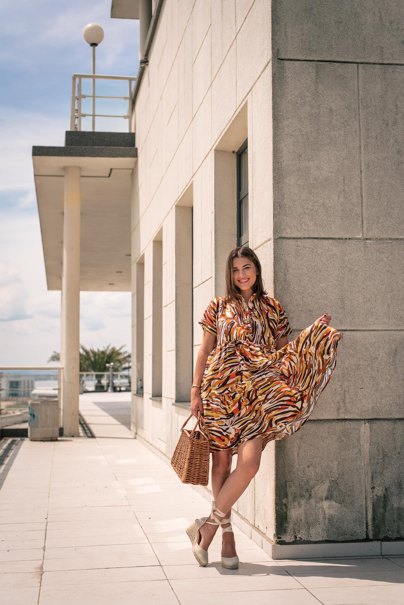 Hot wave dress from 100% linen